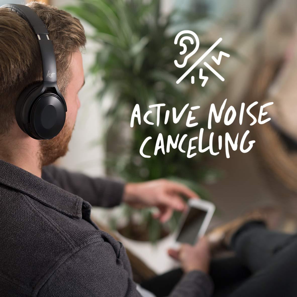 5b691d57149 KitSound Immerse Wireless Bluetooth Over-Ear Headphones: Amazon.co.uk:  Electronics