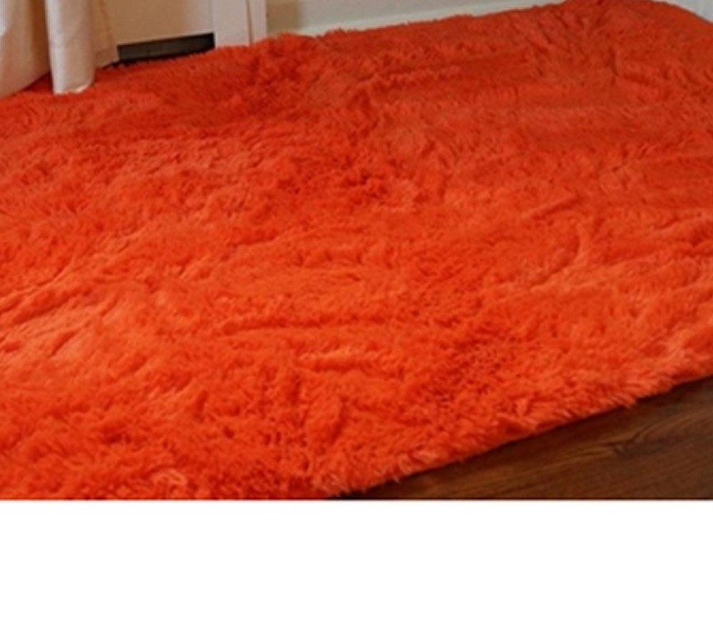 College Plush Rug - 3' X 4.75' - Orange
