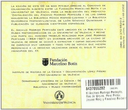 El Archivo Rodrigo Perteg?s: Ros de Ursins, Pere Pintor, Jaume Roig y Faustino Barber?: 9788437055206: Amazon.com: Books