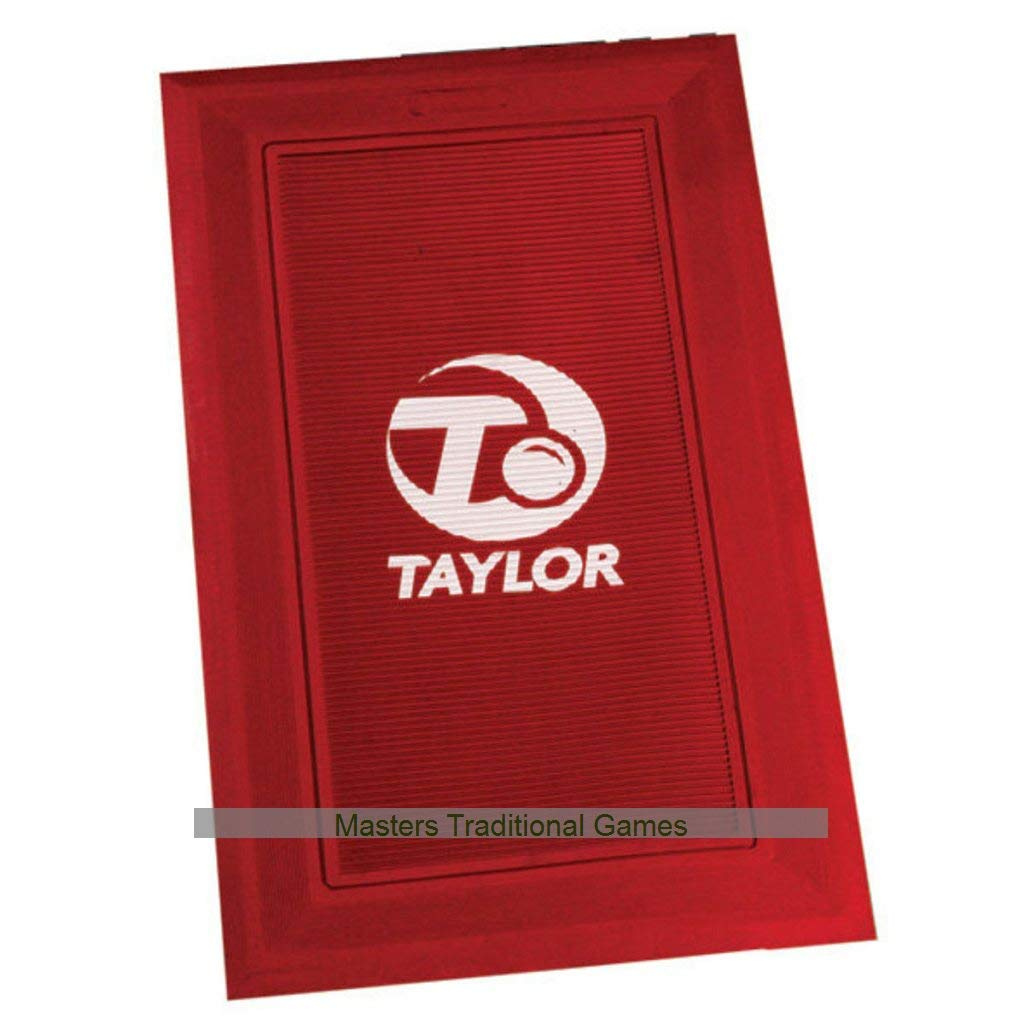 Taylor Rubber Bowls Delivery Mat - WBB Regulation, Pack of 4 red by Taylor Bowls