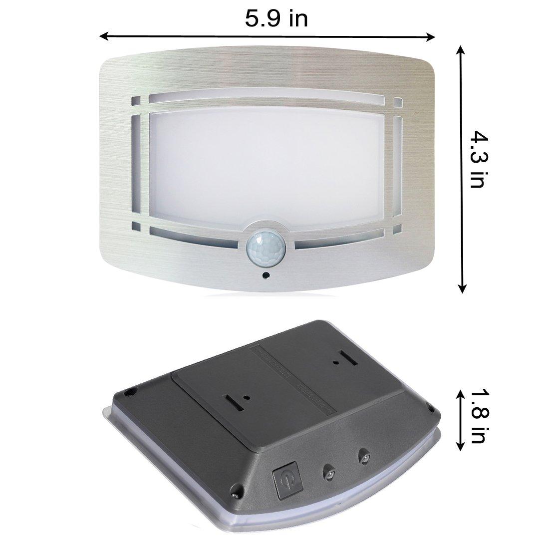 Motion Sensor LED Night Light,Wireless Battery Powered Wall Lamp,Stick Anywhere Wall Sconce,Aluminum Case Closet Light,Safe Light for Stair, Hallway,Bathrom,Bedroom,Kitchen by Kalefu (Image #7)