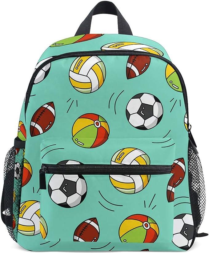 QMIN Mochila para niños, balones de fútbol, Bolsa de Hombro para ...