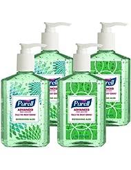 Purell Advanced Hand Sanitizer Refreshing Aloe, Design Series, 8 fl oz Counter Top Pump Bottle (Pack of 4) 9674-06-ECDECO