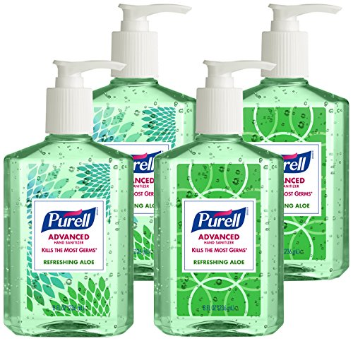 Purell 9674-06-ECDECO Advanced Design Series Hand Sanitizer, 8 oz Bottles (Pack of 4)