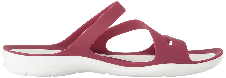 Crocs Women's B(M) Swiftwater Sandal B078F5NXCY 6 B(M) Women's US|Pomegranate/White 2d2944
