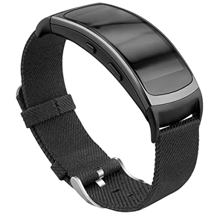 OenFoto Compatible with Gear Fit2 Pro/ Fit2 Leather Band, Replacement Accessories Strap for Samsung Gear Fit 2 Pro SM-R365/ Gear Fit2 SM-R360 ...