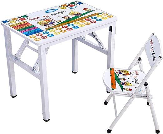 ZH Mesa y Silla para Infantil Plegable, niños de 2 a 5 años de ...