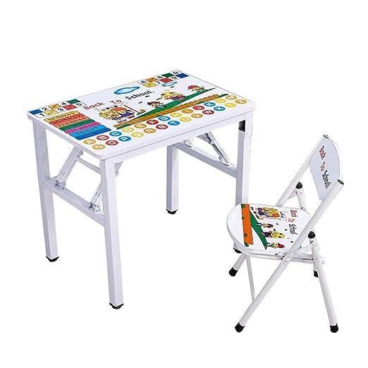 ZH Escritorios y sillas Plegables para niños, Mesa de Letras de ...