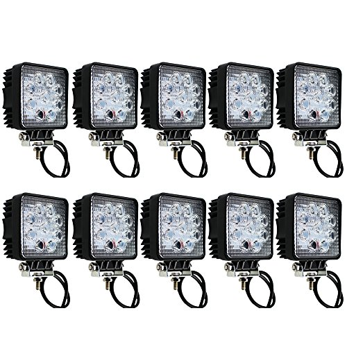 IMAX10 X 27W 1890 LM LED 30 Degree Spot Lamp for Working/Driving, Off Road Spot light-Jeep,Boat, SUV, Truck, Car, ATVs Fishing Driving Light Waterproof Square Car Lamp