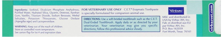 Virbac CET Vanilla/Mint Toothpaste, 70 gm 5