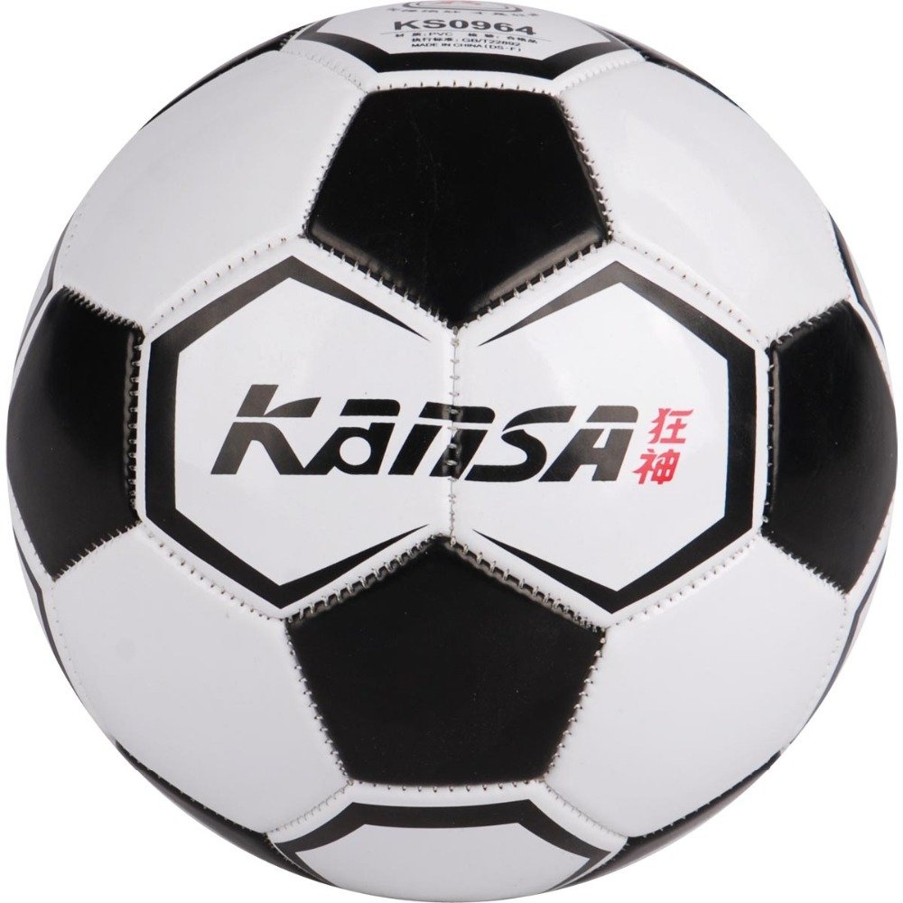 Kansaサイズ4シームレスレザー耐久性Classics Teenageサッカーボール B012CE8AJ4