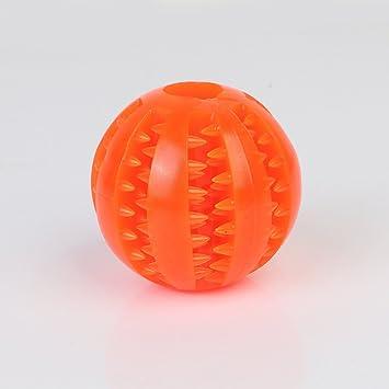 Yocktec - Bola de juguete para perro, indestructible, dispensador de alimentos para perros,