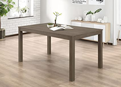 Amazoncom WE Furniture Homestead Wood Dining Table Aged Grey - Aged wood dining table