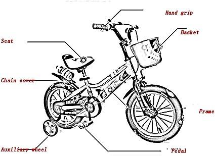 Yumege Bicicletas para niños, con rueda de entrenamiento para ...