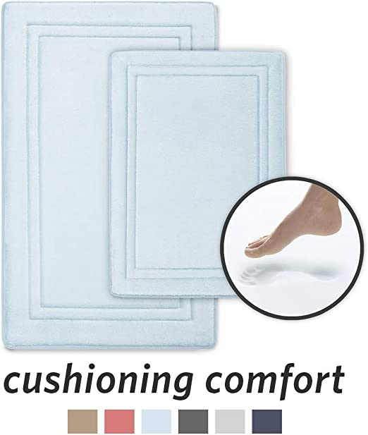 Amazon Com Microdry Quick Drying Memory Foam Bath Mat With