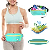 MEETYOO Running Waist Pack, Ultra Thin Adjustable Sport Fanny Pack Fits iPhone X 6 7 8 Plus Samsung Note 8 S8, Waterproof Reflective Fit Running Belt for Workout Exercise Traveling