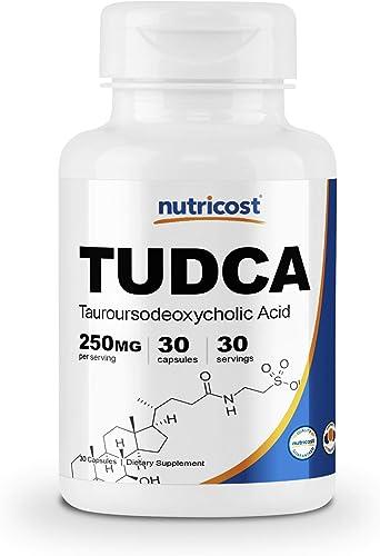 Nutricost Tudca 250mg, 30 Capsules Tauroursodeoxycholic Acid – Gluten Free, Non-GMO