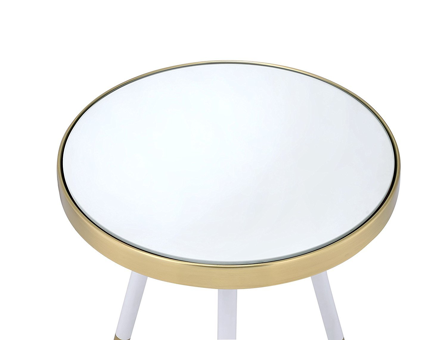 Major-Q 9081940 20 H Modern Round Smoky Tempered Glass and Chrome End Side Table