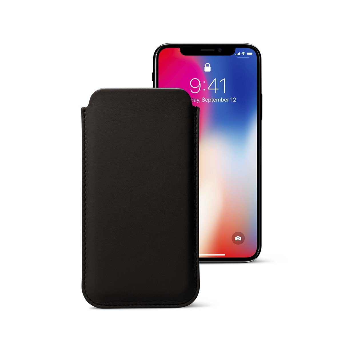 Lucrin - Classic Case for iPhone X - Dark Brown - Smooth Leather