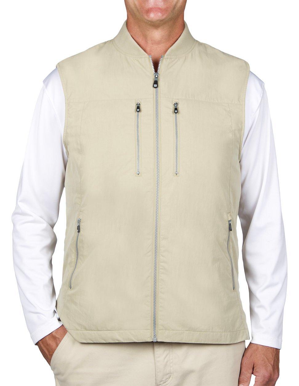 SCOTTeVEST 101 Vest-Men's - 9 Pockets, Travel Clothing, KHA, M by SCOTTeVEST