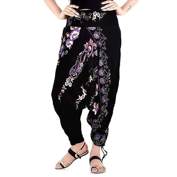 Sanganeri Floral Printed Pure Cotton Harem Pants