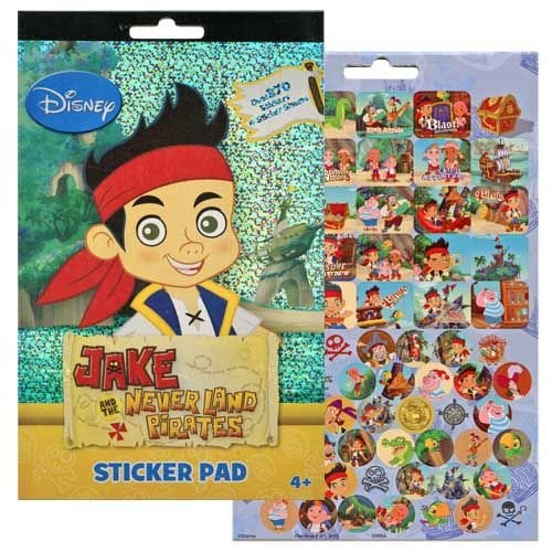 Disney Jake and the Never Land Pirates 4 Sticker Sheets Over 270 Stickers]()