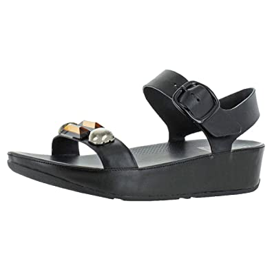 df85a83cbd4a FitFlop Jeweley Back Strap Women s Embellished Toning Sandals Black Size 7