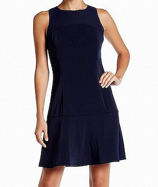 6933f555aa131e The Coverii Womens Large Fit   Flare A-Line Dress Blue L at Amazon ...