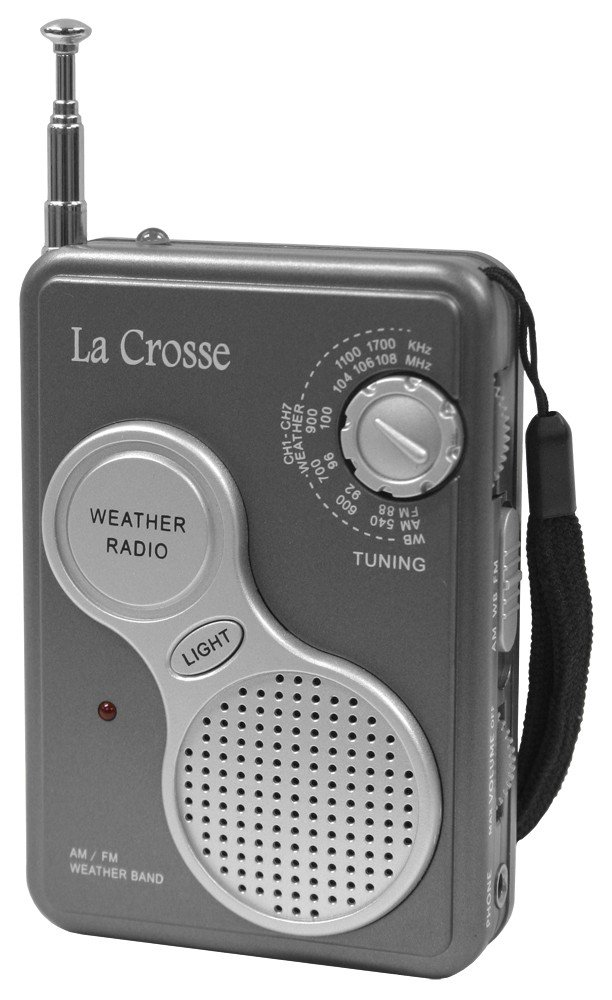 La Crosse Technology 809-905 AM/FM Handheld NOAA Weather Radio