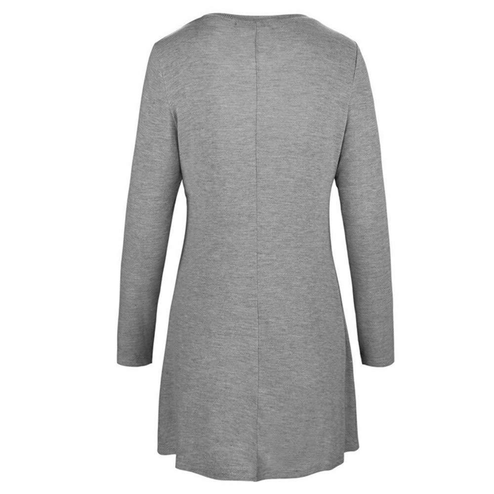 835a690c4d9 Mujer blusa vestido otoño,Sonnena ❤ Vestido de blusa de manga larga casual  mujer otoño