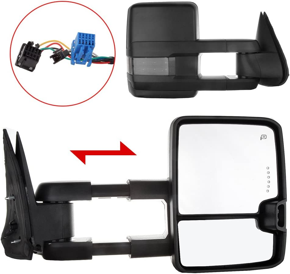[NRIO_4796]   Amazon.com: Towing Mirrors Exterior Accessories Mirrors for Chevy for GMC  2003-2006 Silverado/Sierra (07 Classic Models) Pair Tow Mirrors with Turn  Signal Backup Light Power Control Heated Manual Telescoping: Automotive | 2007 Chevy Silverado Mirror Wiring |  | Amazon.com