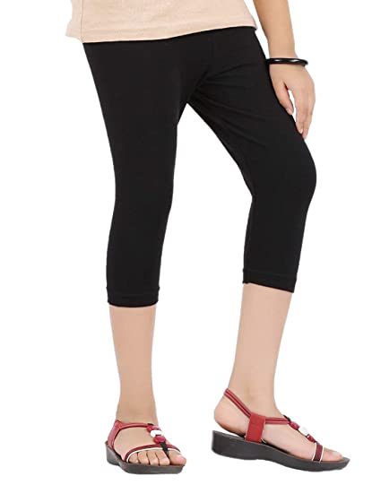Buy Stunning collection 3/4th Capri for Girls   Spandex/Cotton Capris    (14-15 Years) Black Online at Low Prices in India - Amazon.in