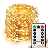 Best Rope Light For Seasonal Decoratives - HAHOME Dimmable Christmas String Lights, Waterproof Fairy Lights Review