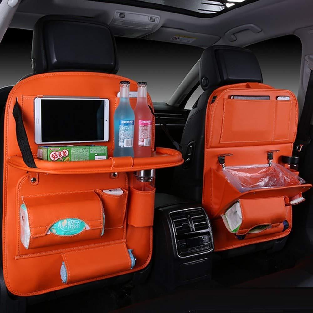 Auto Rücksitz Organizer Auto Aufbewahrungstasche Müllsack Hängen Falten Leder Zurück Autoinnenraum Orange Baby
