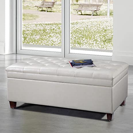 VisionXPro Inc. Royal Comfort Collection Luxury White Tufted Storage Bench Ottoman & Amazon.com: VisionXPro Inc. Royal Comfort Collection Luxury White ...