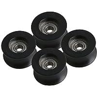 CNBTR Rueda polea de 5 mm con rodamiento