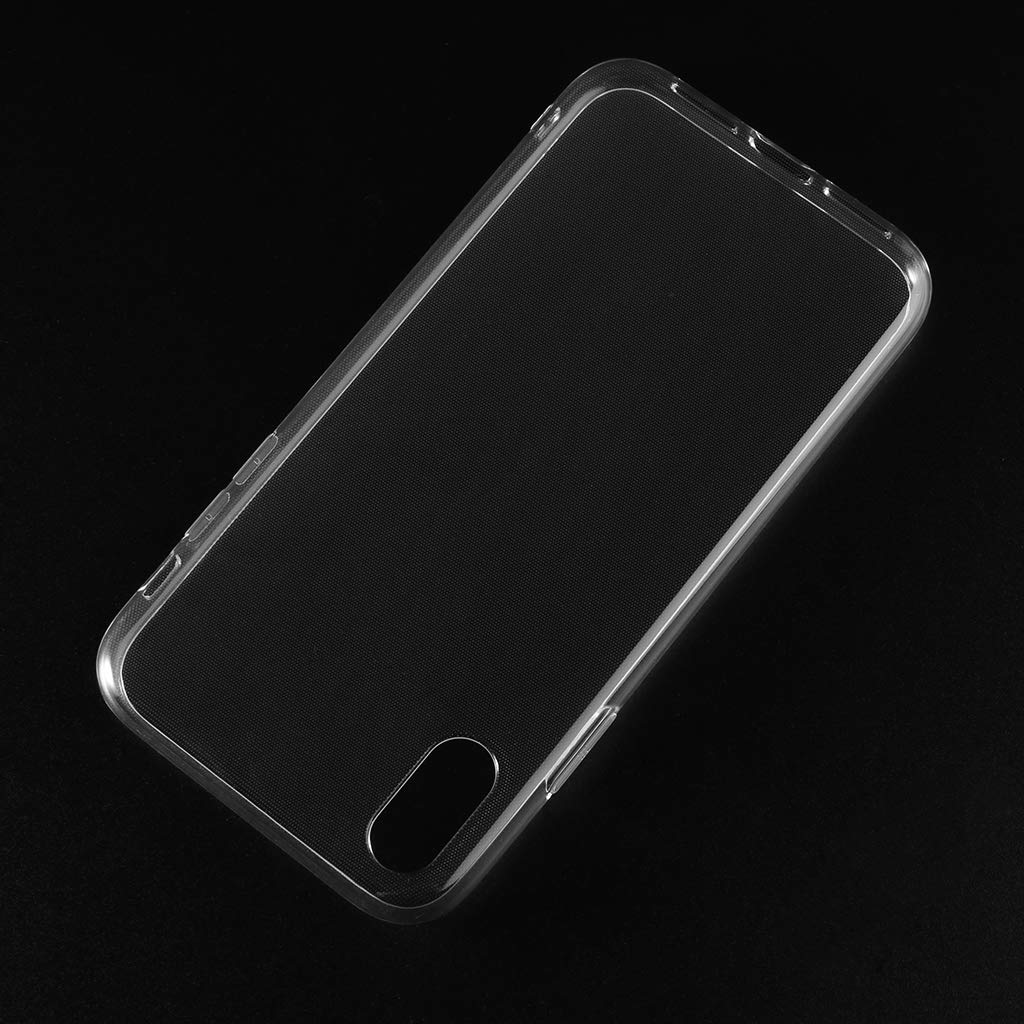 JENOR Shockproof Clear TPU Cover For iPhone Xr Case 6.1 Transparent Protective Shell