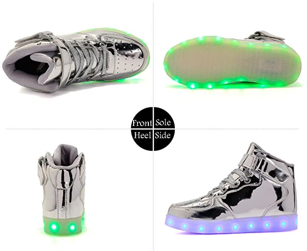 Amazon.com   Coolloog Adult High Top LED Light up 11 Colors USB Charging Flashing Sneakers for Christmas   Walking