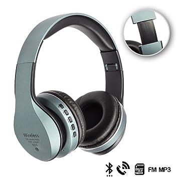 Silica DMX069BLUE DMX069BLUE - Cascos Bluetooth 42 con Radio FM incorporada, Lector de Micro SD