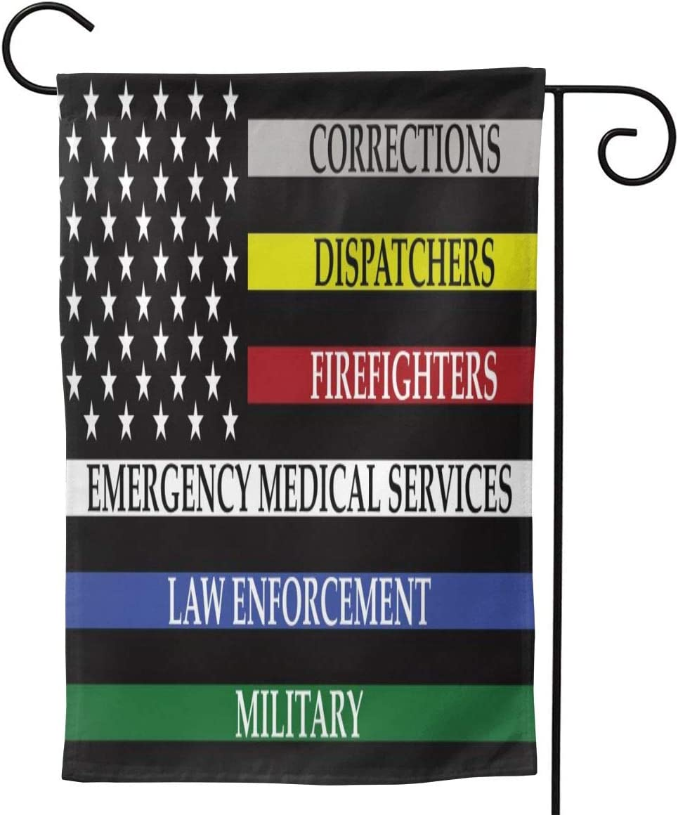 No One Fights Alone Patriotic American Flag Garden Flag Double Sided Vertical No One Fights Alone Patriotic American Flag House Flags Yard Signs Outdoor Decor 12.5