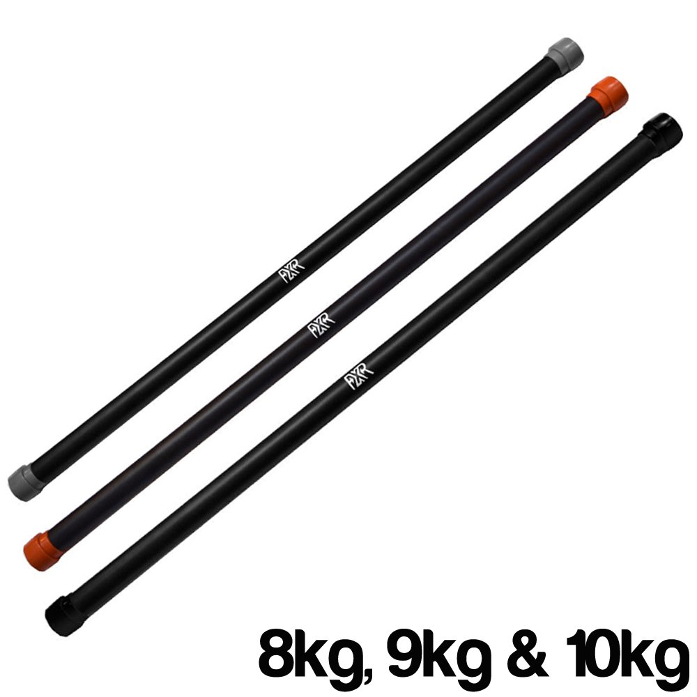 FXR SPORTS - 8/9/10KG WEIGHTED AEROBIC BARS FITNESS CORE BALANCE BODY BAR GYM