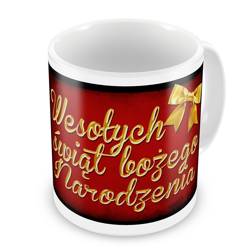 Merry Christmas In Polish.Coffee Mug Merry Christmas In Polish From Poland Neonblond