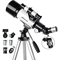 Telescope for Kids & Adults - 70mm Aperture 500mm AZ Mount Fully Multi-Coated Optics Astronomical refracting Portable…