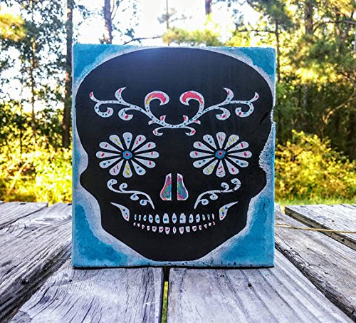 Dia de los Muertos Sugar skull, day of the dead candy skull, skull decor, halloween skull, wooden sugar skull, painted skull, Mexican skull
