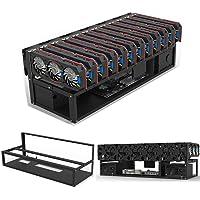 12 GPU Open Air Mining Rig Frame Mining Case Rack Motherboard Bracket Computer Case Miner for 12 GPUs Like 1660 Or 8-10…