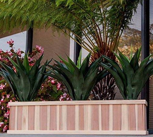 Best Redwood SPBB-121248B4NS Solid Planter Box, 12