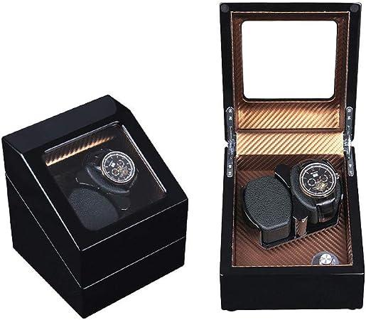 J.Mmiyi Caja Relojes Automaticos Watch Winder 2, Cuero Soporte de exhibición, Silencioso Cajas Giratorias, Caja de Almacenamiento Aniversario Regalo,G: Amazon.es: Hogar