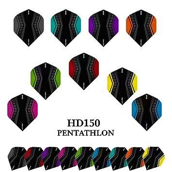 6 Dart Flights Pentathlon SLIM Farbe wählbar