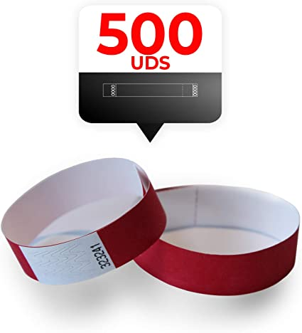 Colore Rosso Amazy braccialetti identificativi
