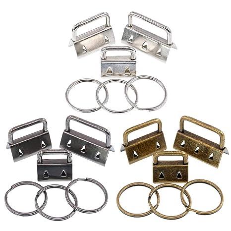 Swpeet - Juego de accesorios para llaves (45 piezas, incluye anillas), perfecto